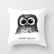 Double Espresso Throw Pillow
