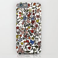 iPhone & iPod Case featuring flower-scatter by Rebecca Mcmillan