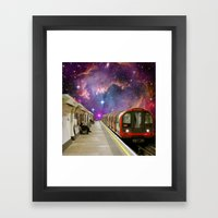 Sitting, Waiting, Wishing - London Tube Series Framed Art Print