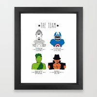 THE TEAM Framed Art Print