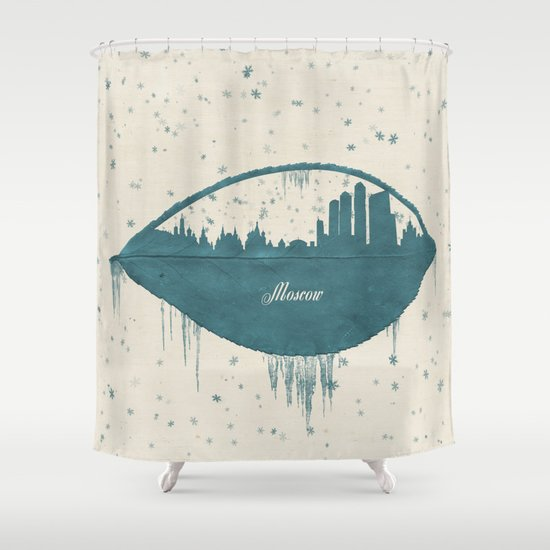 Frozen Moscow Shower Curtain