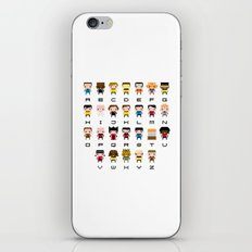Pixel Star Trek Alphabet iPhone & iPod Skin