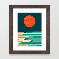 Chasing Wave Under The R… Framed Art Print