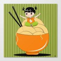 Noodle..noodle.. Noodle!… Canvas Print