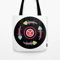 Circles Of Gators Tote Bag
