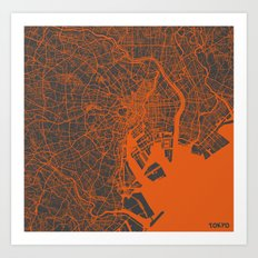 Tokyo Map #2 Art Print