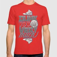 Dunk you very much Mens Fitted Tee Red SMALL