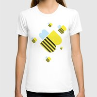 B's Womens Fitted Tee White SMALL
