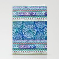 Ocean Stripe Stationery Cards