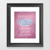 Kindness Quote Wall Art Calligraphy Framed Art Print