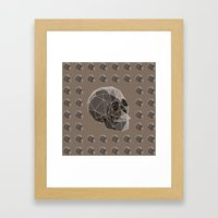 Geometric skulls Framed Art Print