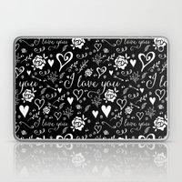 Black Love Laptop & iPad Skin