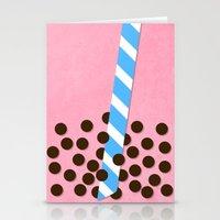Strawberry Smoothie W/ B… Stationery Cards