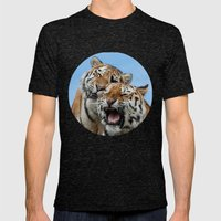 TIGERS - DOUBLE TROUBLE Mens Fitted Tee Tri-Black SMALL