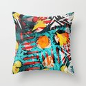 abstract colored chaos Throw Pillow