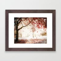 Scarlet And Snow Framed Art Print