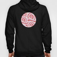 Red Auspicious Waves  Hoody