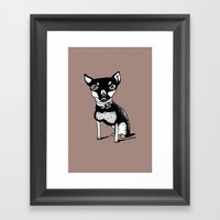 Cute Dog Framed Art Print