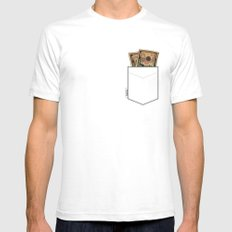 Pockets - Macklemore - Mens Fitted Tee White SMALL