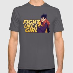 BATGIRL: Fight Like A Girl Mens Fitted Tee Asphalt SMALL