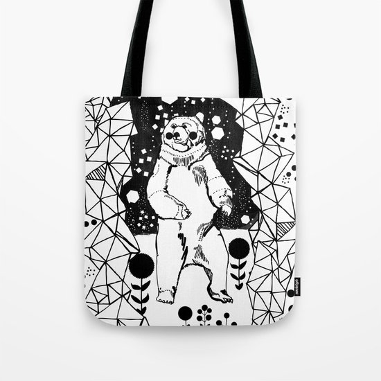 Bear in the Night Tote Bag