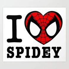 I love Spidey Art Print