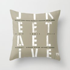 Street Delivery Throw Pillow