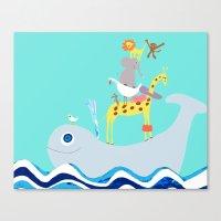 Taxi Whale Canvas Print