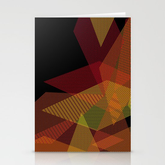 On Fire Stationery Card