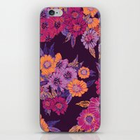 Floral in purple tones iPhone & iPod Skin
