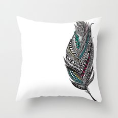 Single Aztec Feather  Throw Pillow