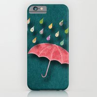 iPhone & iPod Case featuring It's raining, it's pouring by Elephant Trunk Studio