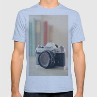 Vintage Film Camera  Mens Fitted Tee Athletic Blue SMALL