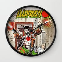Bloodshot Shooting Wall Clock