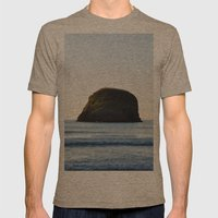Sea sunset Mens Fitted Tee Tri-Coffee SMALL
