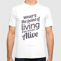 What's the point Mens Fitted Tee White SMALL