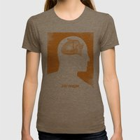 Stay Foolish Womens Fitted Tee Tri-Coffee SMALL