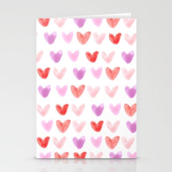 Love Hearts Stationery Card
