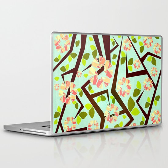 Blooming Trees Pattern III Laptop & iPad Skin