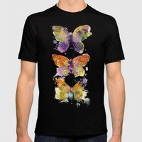 3 farfalle Mens Fitted Tee Black SMALL