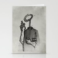 Trust With No Head And H… Stationery Cards
