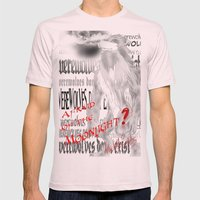Werewolves don´t exist Mens Fitted Tee Light Pink SMALL