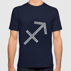 Sagittarius Mens Fitted Tee Navy SMALL