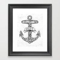 Hope Anchors Framed Art Print