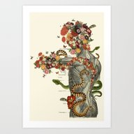 Art Print featuring Serpens Anatomical Colla… by Bedelgeuse