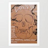Monkey Skull Art Print