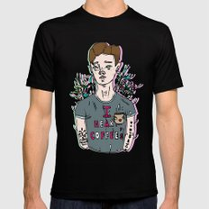 //Connor Franta: I Heart Coffee's// Mens Fitted Tee Black SMALL