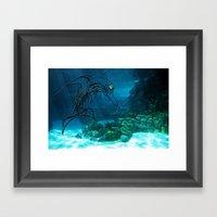 Tribal Robot Dolphin :) Framed Art Print
