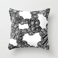 Muscle Marbles Throw Pillow
