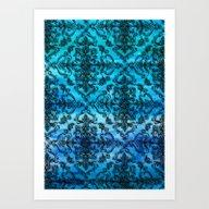 Black Filigree Pattern O… Art Print